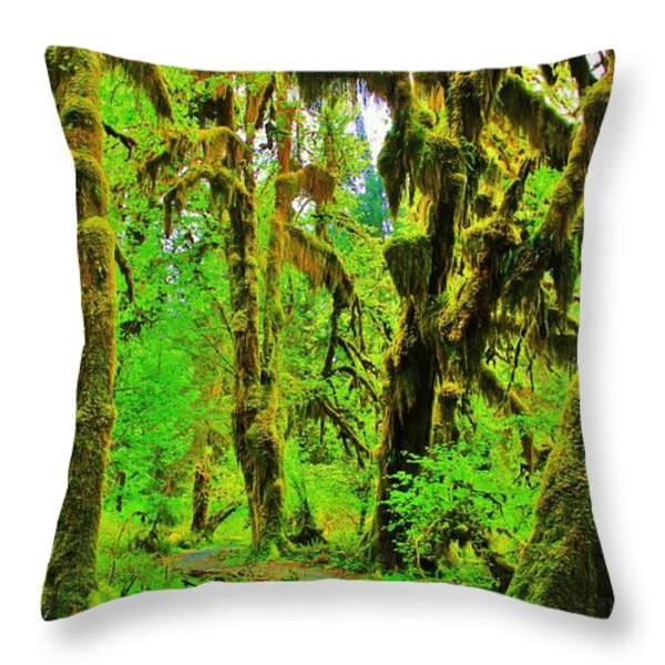 Hall of Moss Throw Pillow by Benjamin Yeager