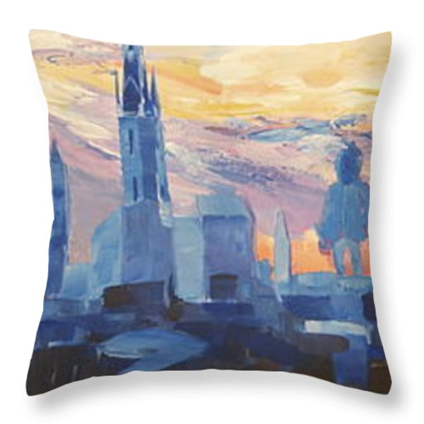 Halle Saale Germany Skyline Throw Pillow by M Bleichner