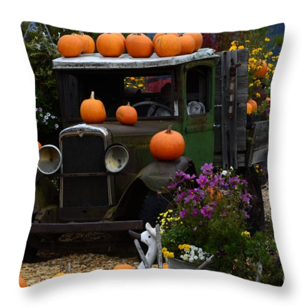 Halloween 1 Throw Pillow by Bob Christopher