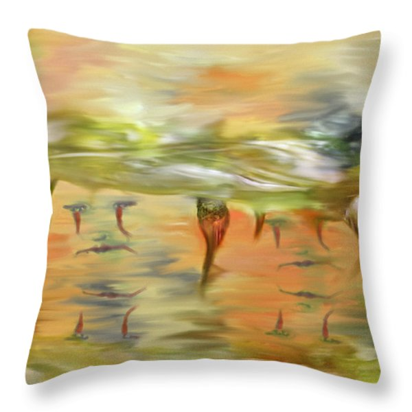 Halloween Clown Morning Tear Drops Reflection Throw Pillow by Angela A Stanton