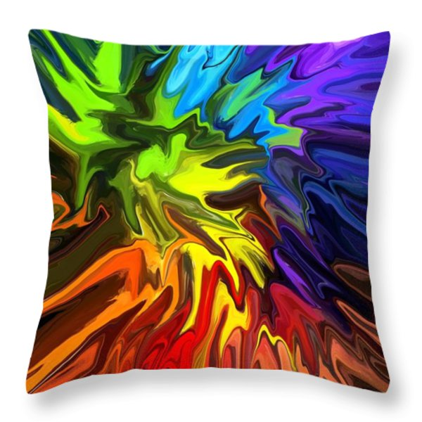 Hallucination Throw Pillow by Chris Butler