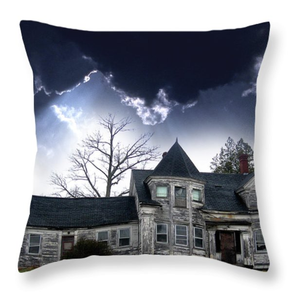 Haloween House Throw Pillow by Skip Willits