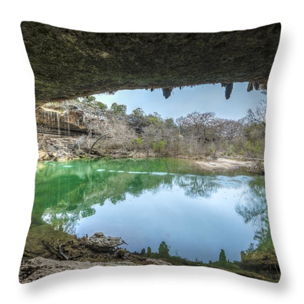 Hamilton Pool Throw Pillow by David Morefield