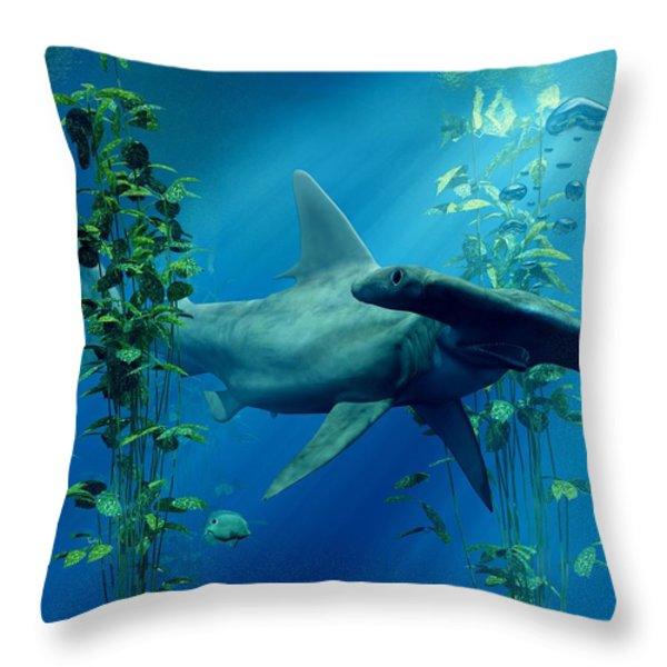 Hammerhead Throw Pillow by Daniel Eskridge