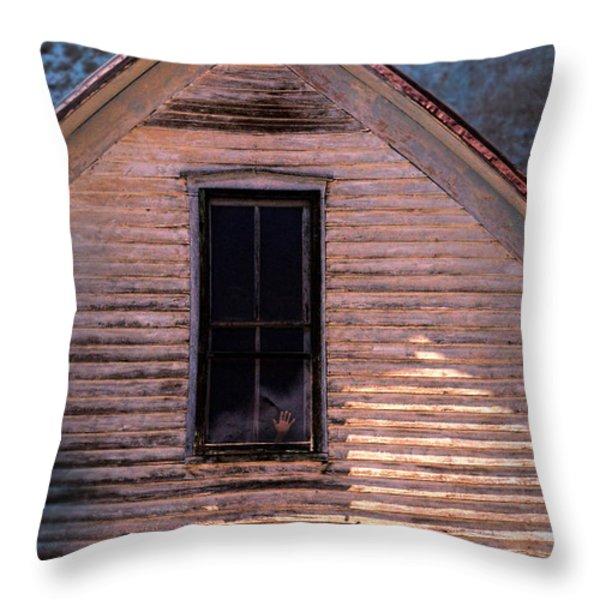 Hand in Window Throw Pillow by Jill Battaglia