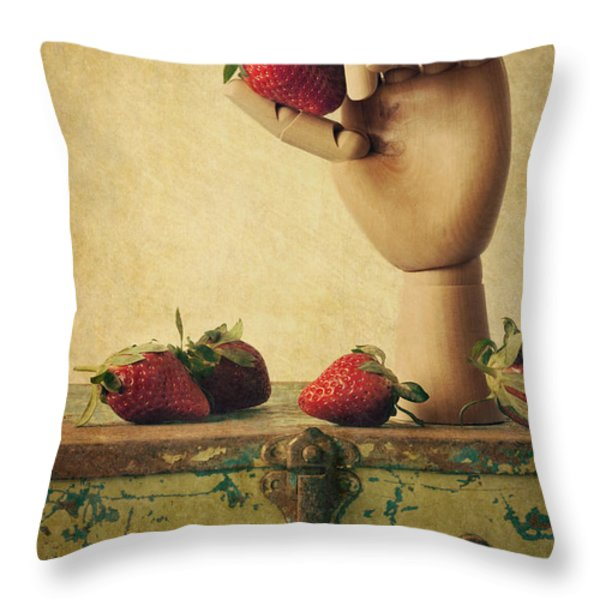 Hand Picked Throw Pillow by Amy Weiss