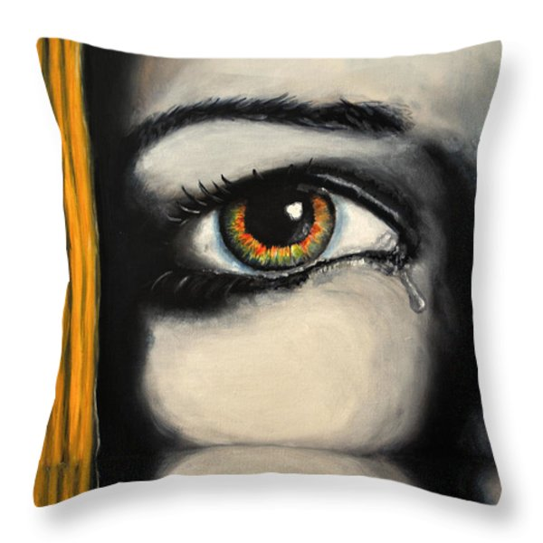 Handle With Care Throw Pillow by Ruben Barbosa