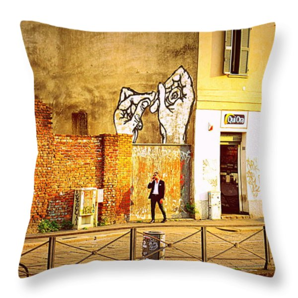 Hands on Me Throw Pillow by Valentino Visentini