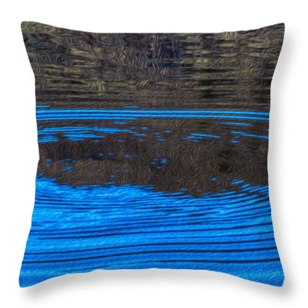 Handy Ripples Throw Pillow by Omaste Witkowski