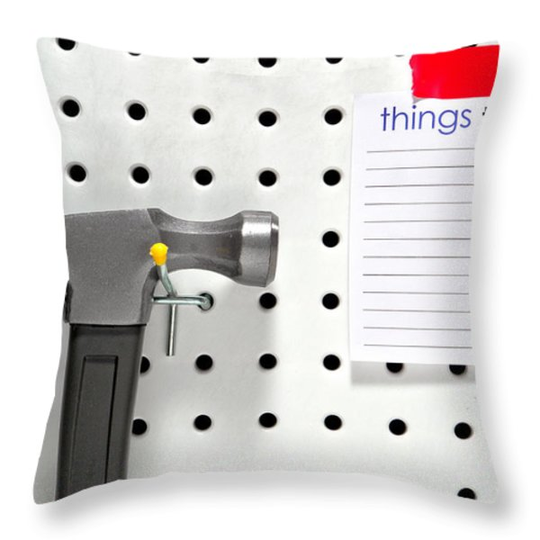 Handyman Throw Pillow by Olivier Le Queinec