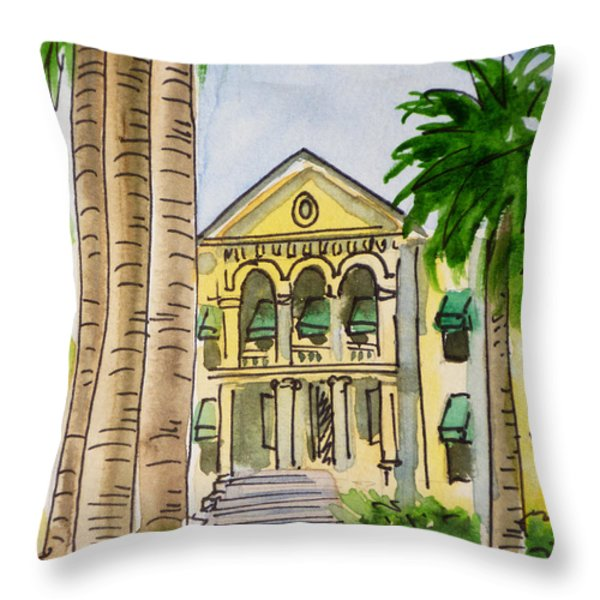 Hanford - California Sketchbook Project Throw Pillow by Irina Sztukowski
