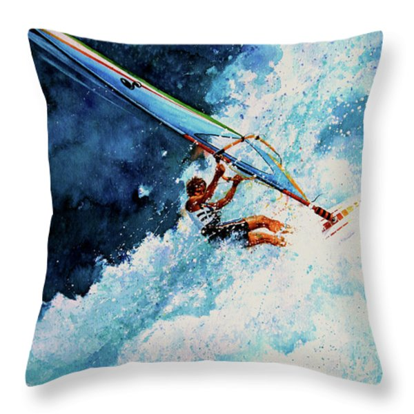 Hang Ten Throw Pillow by Hanne Lore Koehler
