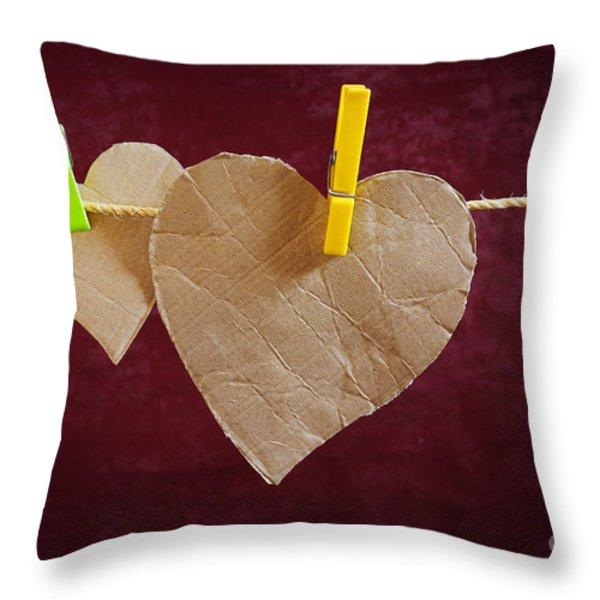 Hanged Heart Throw Pillow by Carlos Caetano