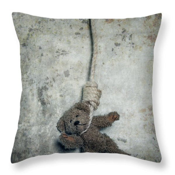Hanging On The Gallows Throw Pillow by Joana Kruse