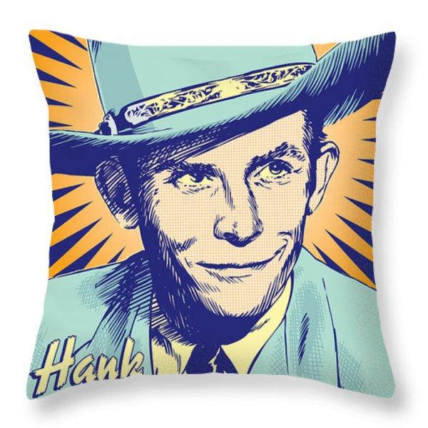 Hank Williams Pop Art Throw Pillow by Jim Zahniser