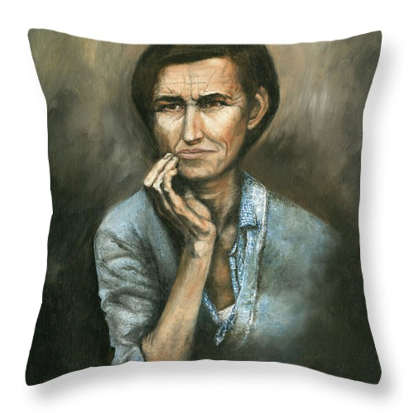Hannah -timeless Beauty Throw Pillow by Mary Ellen Anderson