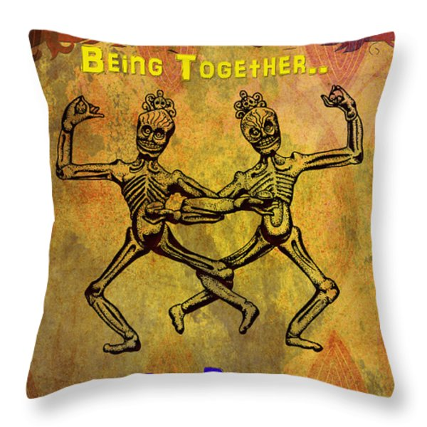 Happiness Is.. Throw Pillow by Bedros Awak