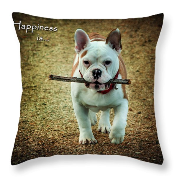 Happiness Is Throw Pillow by Jordan Blackstone