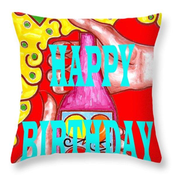 Happy Birthday 1 Throw Pillow by Patrick J Murphy