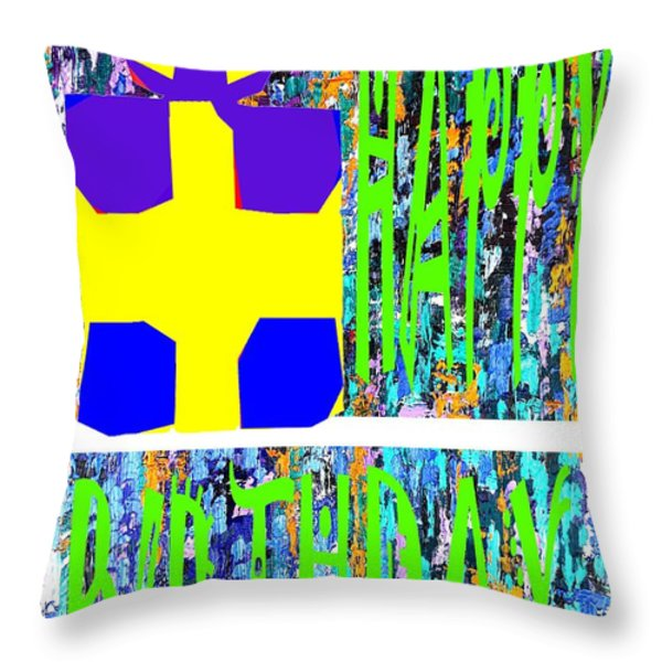 Happy Birthday 10 Throw Pillow by Patrick J Murphy