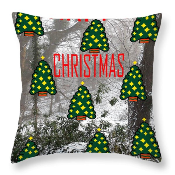 HAPPY CHRISTMAS 22 Throw Pillow by Patrick J Murphy