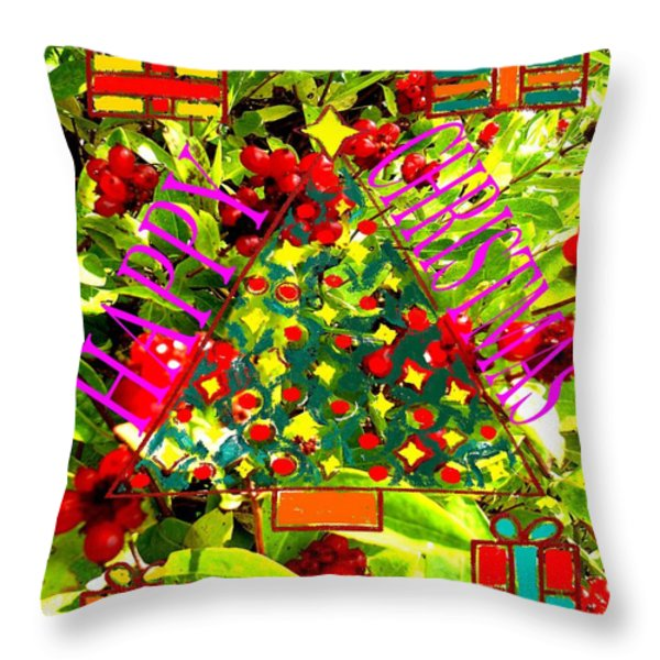 Happy Christmas 25 Throw Pillow by Patrick J Murphy