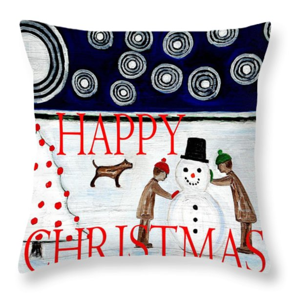 HAPPY CHRISTMAS 29 Throw Pillow by Patrick J Murphy