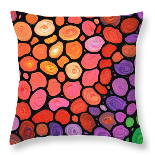 Happy Day Throw Pillow by Sharon Cummings