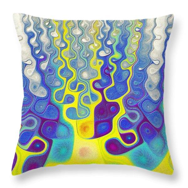 Happy Felt Throw Pillow by Anastasiya Malakhova