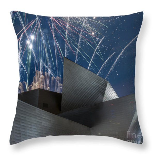 Happy Fourth Throw Pillow by Juli Scalzi