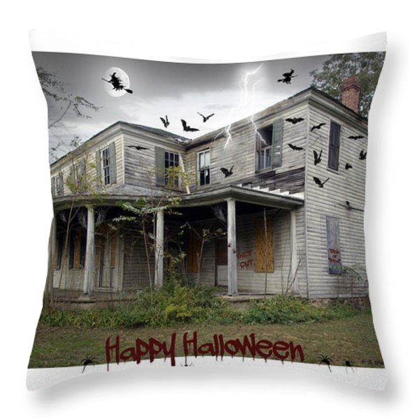Happy Halloween Throw Pillow by Brian Wallace