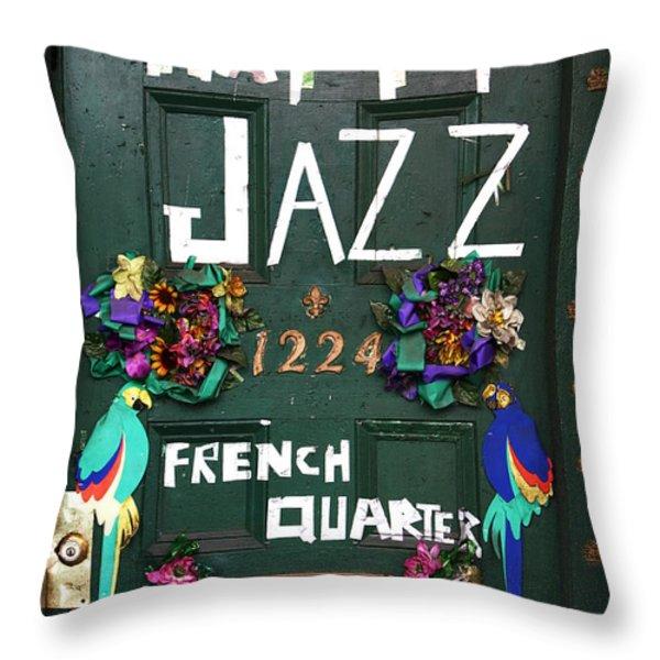 Happy Jazz Throw Pillow by John Rizzuto