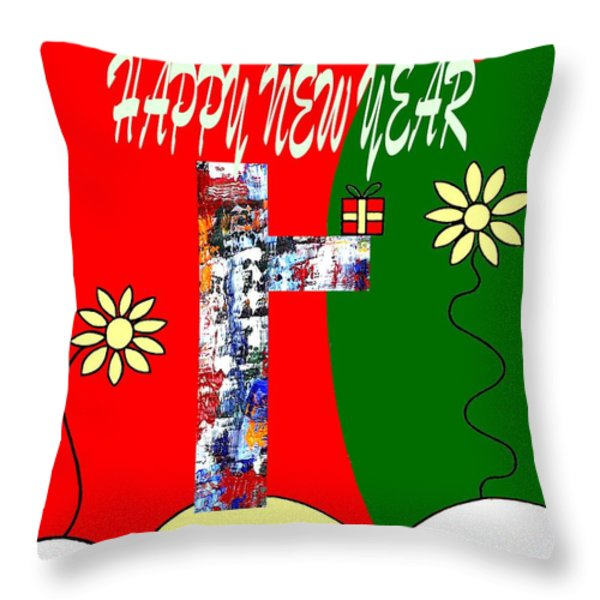 Happy New Year 50 Throw Pillow by Patrick J Murphy