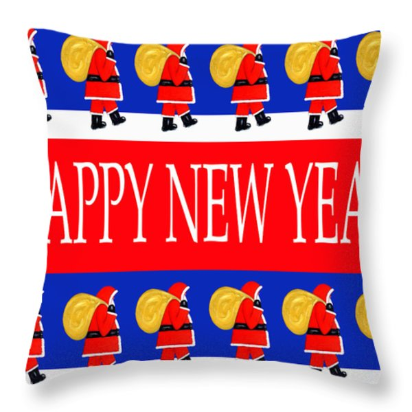 Happy New Year 7 Throw Pillow by Patrick J Murphy