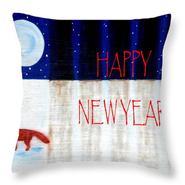 Happy New Year 9 Throw Pillow by Patrick J Murphy
