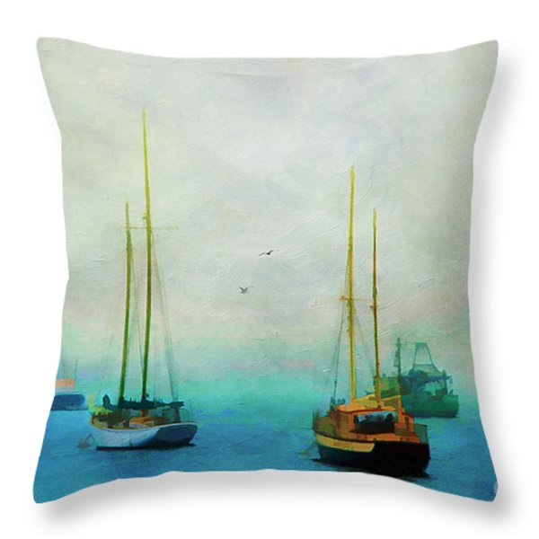 Harbor Fog Throw Pillow by Darren Fisher