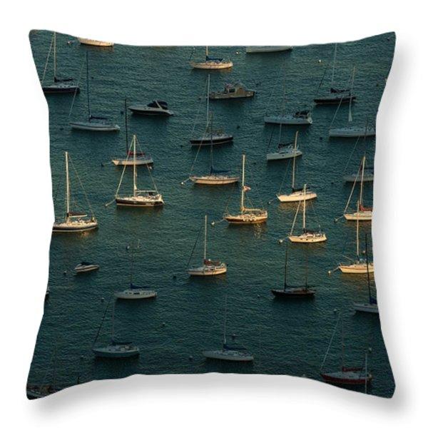 Harbor Sunset Chicago Throw Pillow by Steve Gadomski