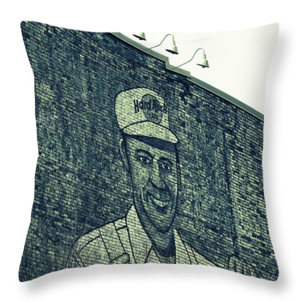 Hard Rock Cafe In Nashville Throw Pillow by Dan Sproul