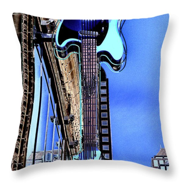 Hard Rock Cafe Seattle Throw Pillow by David Patterson