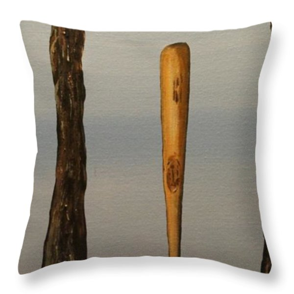 Hard Wood Throw Pillow by Steven Dopka