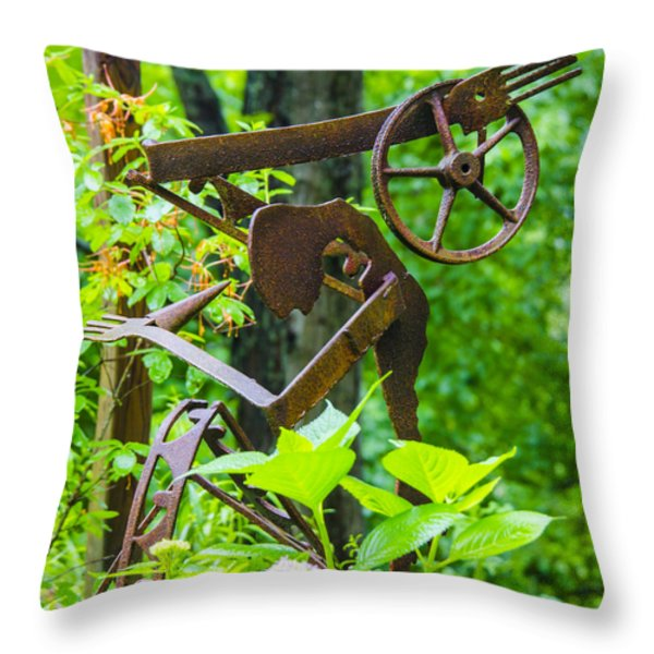 Hard Working Man Throw Pillow by Carolyn Marshall