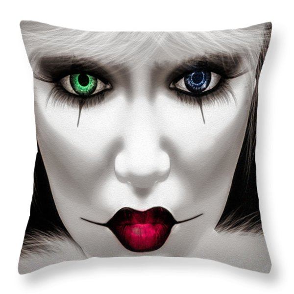 Harlequin Throw Pillow by Bob Orsillo