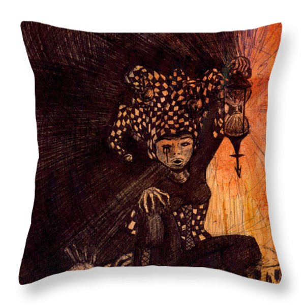 Hermetic Fool Throw Pillow by Kd Neeley
