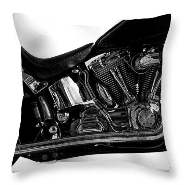 Harley Davidson  Military  Throw Pillow by Bob Orsillo
