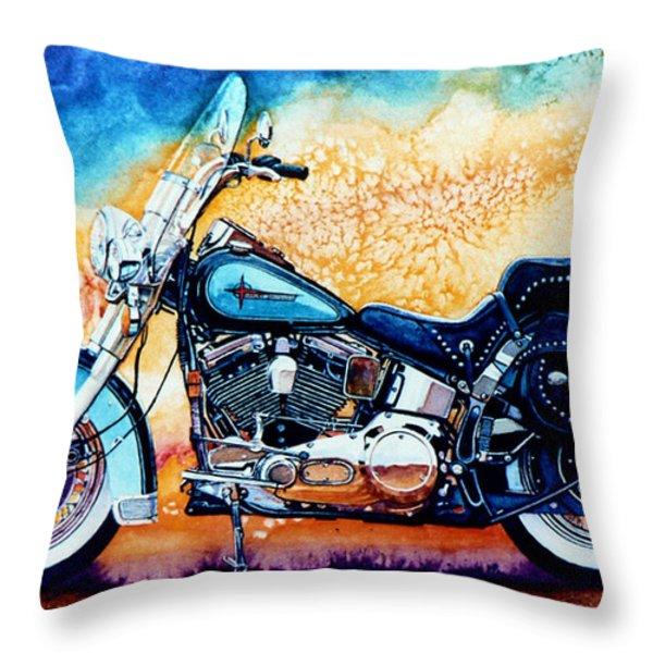 Harley Hog I Throw Pillow by Hanne Lore Koehler