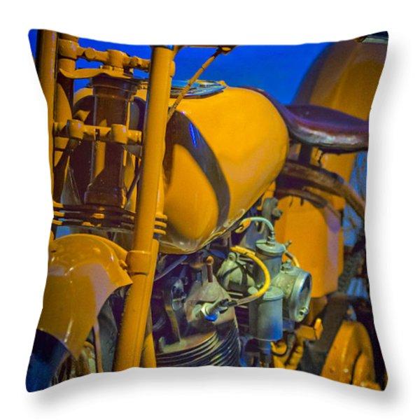 Harley Nostalgia Throw Pillow by Erik Brede
