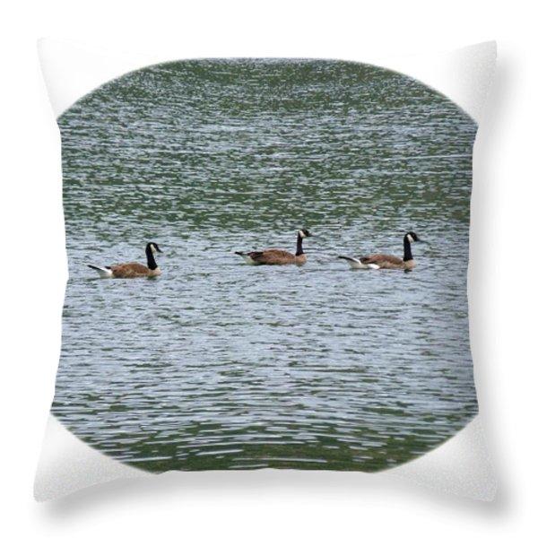 Harmonious Canada Geese Throw Pillow by Will Borden