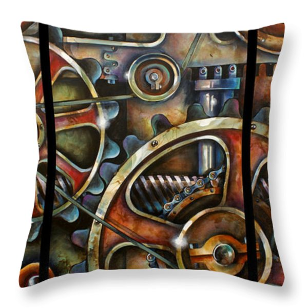 Harmony 7 Throw Pillow by Michael Lang