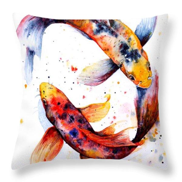 Harmony Throw Pillow by Zaira Dzhaubaeva
