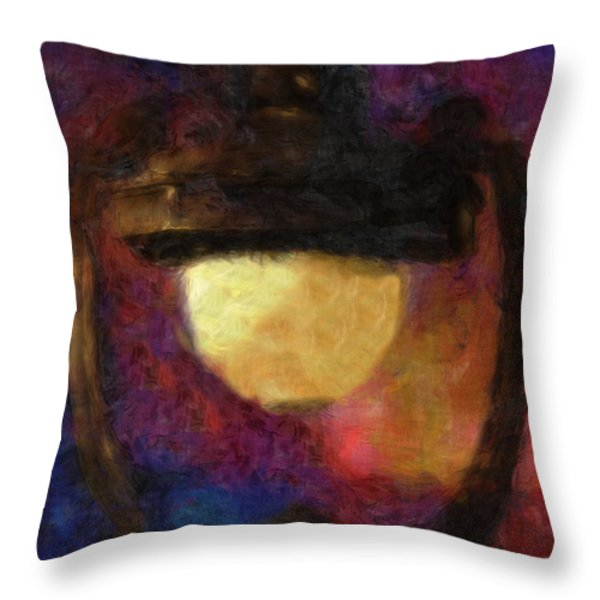 Harp Lamp Throw Pillow by Jack Zulli
